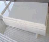 Blanc pur Nano bille en verre blanc carreaux de sol en marbre artificiel