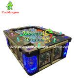 Máquina de juego de juego de la pesca de la arcada de la máquina del océano del vector de fichas del rey 3 pescado