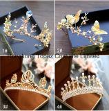 2018 Ретро стиле барокко невесты Tiara Diamond рельефная ручной работы свадебные короны ювелирный кристалл Короны (EC12)