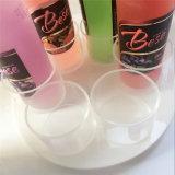 Estante de visualización de acrílico redondo claro al por mayor del vino de Beautful