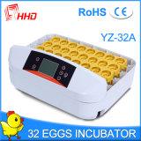 Ce инкубатора яичек цыпленка 32 Hhd автоматический прошел Yz-32A