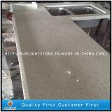 Melhor Superfície sólida Artificial Pedra quartzo preto bancadas de cozinha