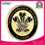 Emblema do metal com logotipo feito sob encomenda da impressão