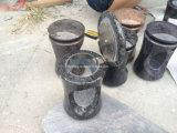 Pedra de mármore e granito populares Funeral/Memorial/Headstone/Tombstone/Gravestone/vaso monumento para os funerais/Cemetery Lantern/urna