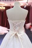 Venda quente que perla vestidos de casamento nupciais de China da noite do baile de finalistas da curva
