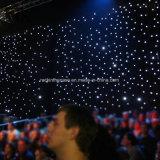 Decoração de cintilação dos eventos do contexto do estágio da cortina da estrela do diodo emissor de luz