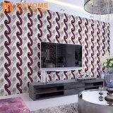 papier peint 106cm de papier de mur de la maison 3D de modèle de la Corée de qualité supérieur de 1.06X15.6m