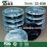 Lunchbox della plastica della caratteristica del contenitore del tipo del &Round delle caselle di memoria e di alimento di Microwavable