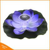 Angeschaltenes LED sich hin- und herbewegendes Solarlicht der Lotos-Blumen-für Garten-Swimmingpool-dekorative Beleuchtung