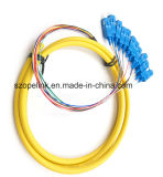 Оптоволоконный оптоволоконный соединитель Patchcord 12 сердечника хвост Sc/G652D блока защиты и коммутации