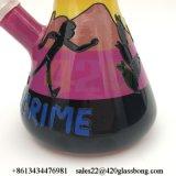 OEM/ODM Rick und Morty Glasbecher-rauchendes Wasser-Rohrglasglasrohr für Rauch
