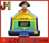 Diapositiva inflable del castillo de Boucer de la cara de la sonrisa de la mini casa