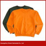 Fornecedor 100% liso da camisola do algodão para a venda por atacado (T77)