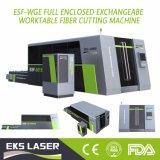 Una cortadora más alta de hoja de metal de la fibra de la potencia del laser con potencia del laser 1000W