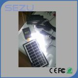 O sistema de iluminação solar o mais barato, 10 -Um no cabo do USB, bulbos do diodo emissor de luz, painel solar