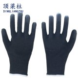 перчатки безопасности сопротивления отрезока черноты 13G Hppe при покрынный PU