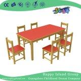 学校の無作法な木の長方形表および椅子の家具(HG-3903)