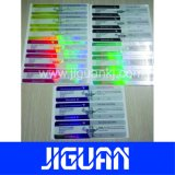Prix bon marché personnalisé de couleur différente de 10ml Etiquette du flacon de holographique