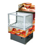 Supermercado comercial abra Vídeo frigorífico/congeladores vitrina de exposição de Alta Qualidade/impulso de cortina de ar exibir frigorífico