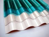 Folha ondulada do telhado da fibra de vidro transparente de GRP, folha da telhadura de FRP
