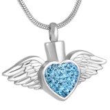 De Tegenhanger van de Urn van de Crematie van het Hart van het Kristal van de Veer van de Vleugel van de Engel van het Staal van Stainess