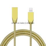 Le métal 1m rond du câble de synchronisation de données USB pour iPhone 8/X