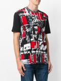 De Rode en Zwarte Samenvatting Afgedrukte T-shirt van mensen