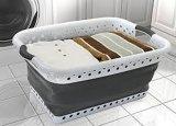 Cestino di lavanderia pieghevole del silicone portatile del contenitore di memoria di economia di spazio