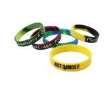 Bracelets colorés Sillicone imprimé Sur mesure Personnalisée Logo Bracelet en silicone pour la fabrication de pointe de l'événement