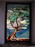 De Muurschildering van het Mozaïek van het Gebrandschilderd glas van de Kunst van de muur