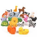 Blocs animaux de talon d'enfants de jouet en bois d'éducation