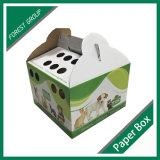 ハンドルが付いている段ボール紙猫のキャリアボックスをカスタム設計しなさい