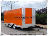 Vrachtwagen van het Voedsel van de Staaf van Australië de Standaard 2017 Gesleepte; De Vrachtwagen van de hotdog; De Vrachtwagen van de Verkoop van de koffie
