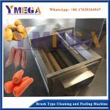 Limpeza de cenoura batata profissional automática e máquina de rebentamento