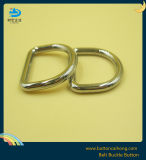 銀製カラーのハンドバッグのための金属のハードウェアのDリング