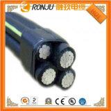 Медный изолированный PVC проводника и провод 2X10mm2 оболочки плоский BVVB электрический