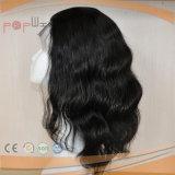 Parrucca brasiliana fatta a mano dei capelli del Virgin del merletto pieno (PPG-l-01641)