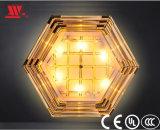 Moderne Luxuxkristallhexagon-Deckenleuchte