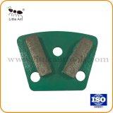 Barre de deux segments Trazpezoid Diamond meulage de la plaque de métal du caisson de nettoyage