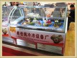 Interior liso do Showcase do gelado para o bolo do indicador