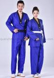 Uniforme lunga blu rossa adulta del Taekwondo del manicotto del cotone caldo di vendita dell'OEM