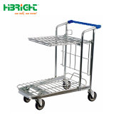Utilisation de l'entrepôt supermarché transporteur Heavy Duty 500kg chariot plate-forme