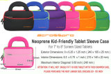 Evecase 7 ~ 8 pouces Tablet ultraportable fermeture à glissière en Néoprène Housse de transport Sac avec poche accessoire