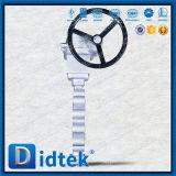 Type de cosse d'essai de Didtek 100% vanne papillon avec Chainwheels