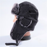Kundenspezifische Schutzkappen-bewölkter Wollen Earflaps Winter-Hut