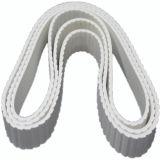 4,8 mm Types de dent de scie PVC blanc petite usine de la courroie du convoyeur pour convoyeur à courroie Conception inclinée Pb-W48/H