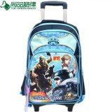 Kundenspezifischer Schulkind-Arbeitsweg-Laufkatze-Gepäck-Beutel fahrbarer Rucksack