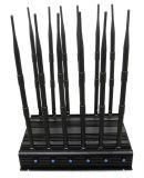 12 안테나 강력한 3G 4G 전화 방해기 WiFi GPS VHF UHF Lojack 자동차 방해기