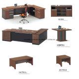 L executivo de madeira Escritório Executivo de mesa do escritório de turismo