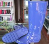 Lluvia de PVC de damas de moda zapatos mujer Zapatos de lluvia, el bajo precio la zapata de la lluvia de PVC